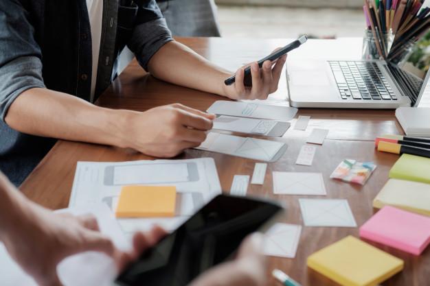 Layout responsivo de Marketing Digital