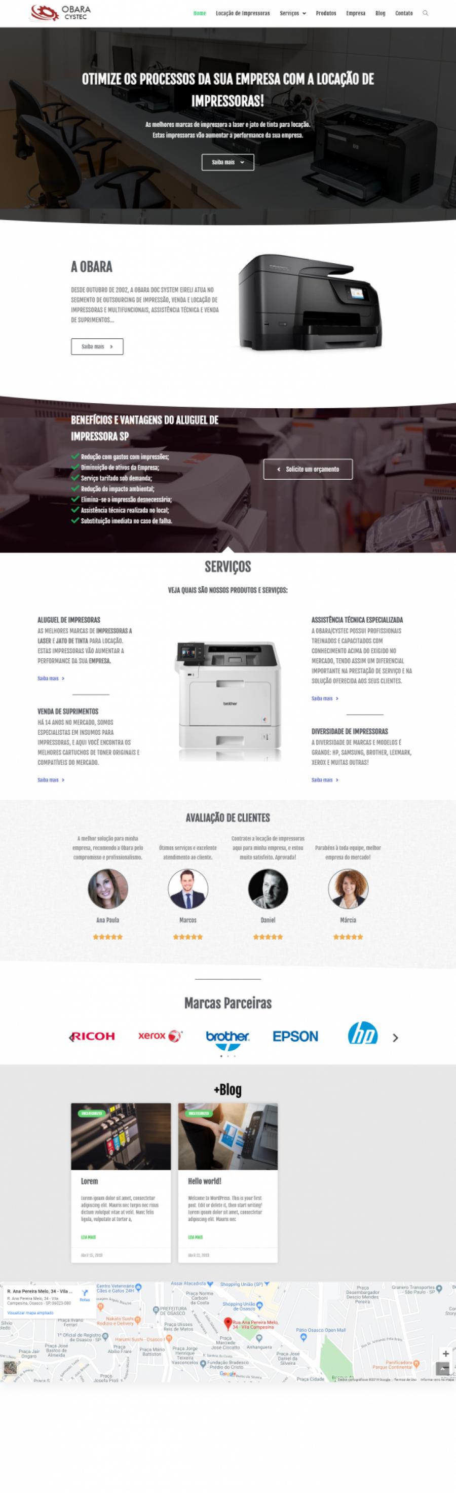 Obara – Locação de impressora em SP